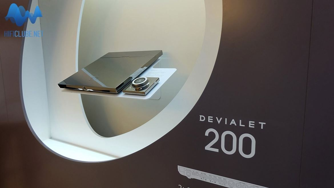 Devialet amplifier display in Munich
