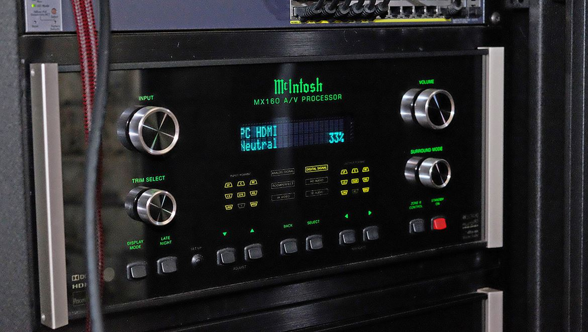 McIntosh new MX160 multichannel processor and preamplifier
