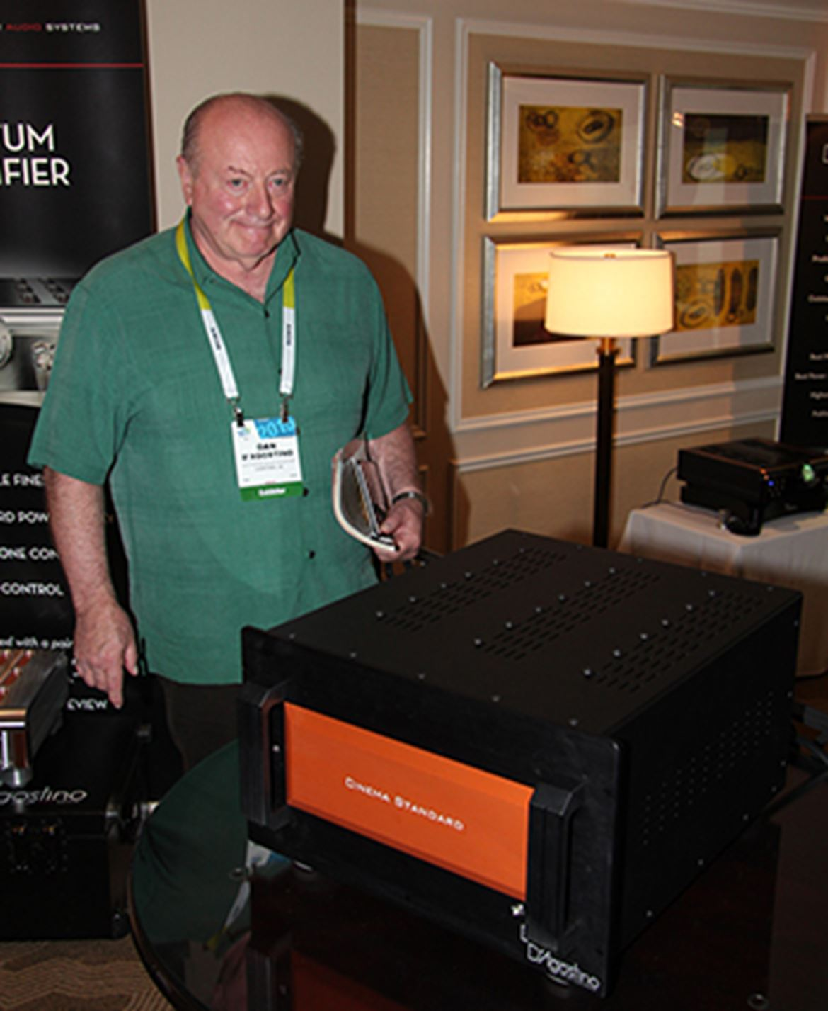 Dan D'Agostino, the man himself, looking happy with the new Cinema Standard Amplifier Series