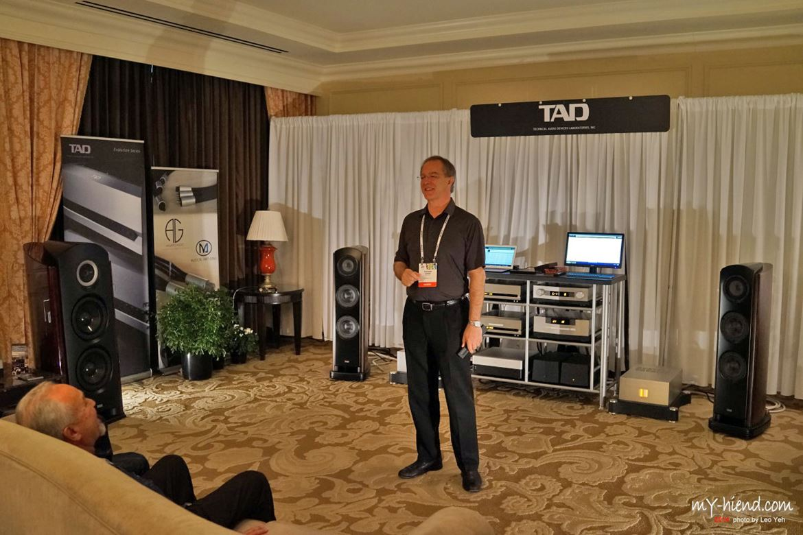 TAD room with Andrew Jones presiding. Gateway to pure high resolution sound: TAD D1000 e DA1000
