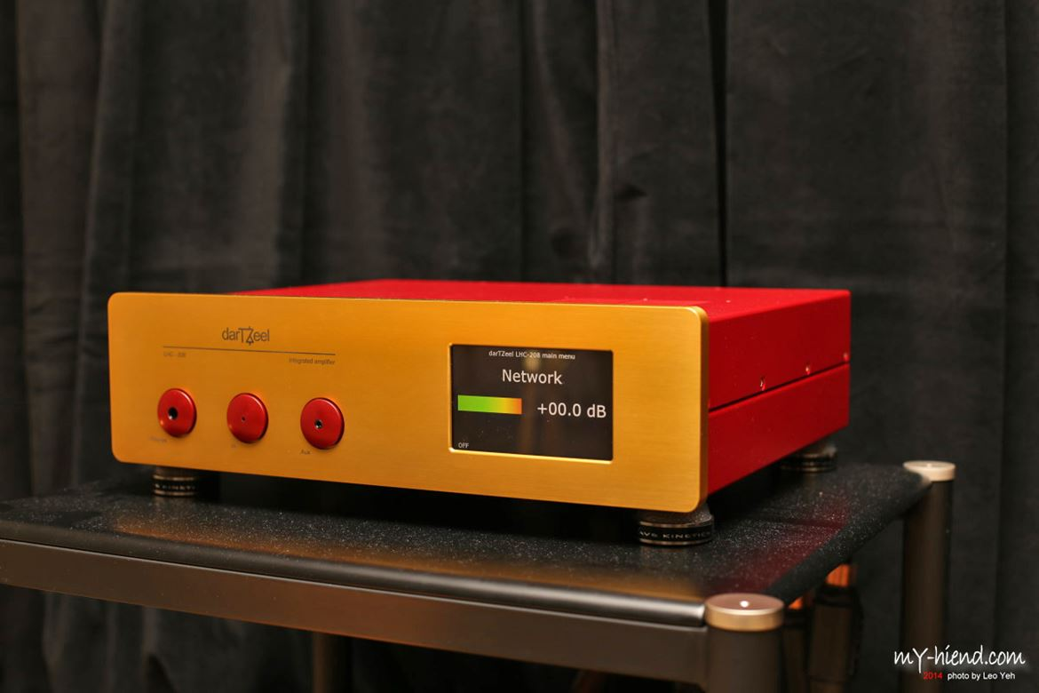 DarTZeel LHC 208, integrated amplifier with digital streaming capabilities up to 352,8/24 and 2 x DSD