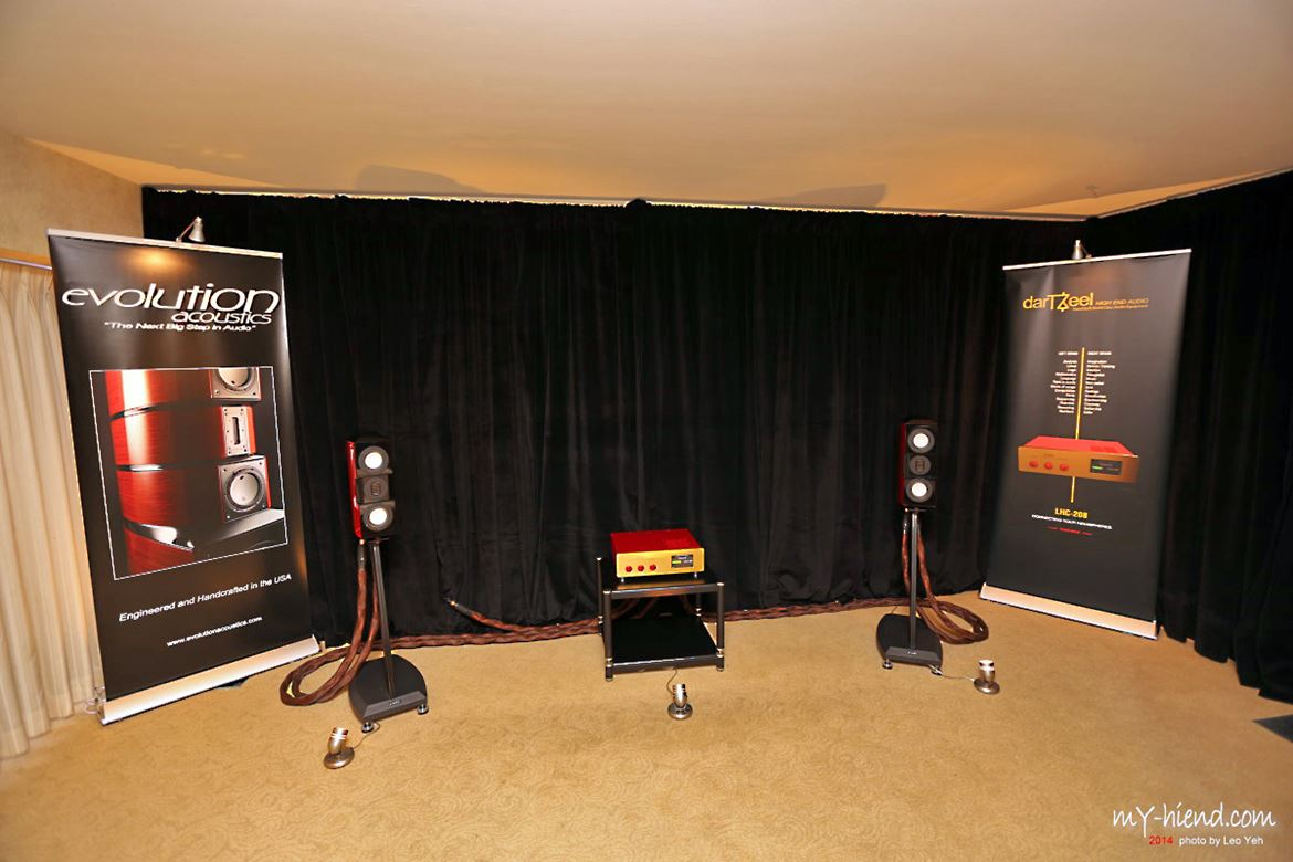 The Evolution Acoustics/DartZeel room at The Show