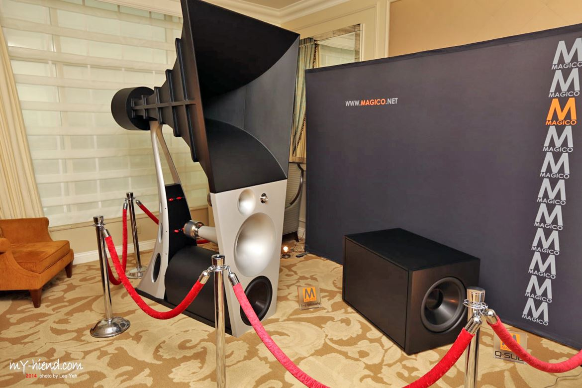 The incredibly expensive (600 grand!), three horned Magico Ultimate III