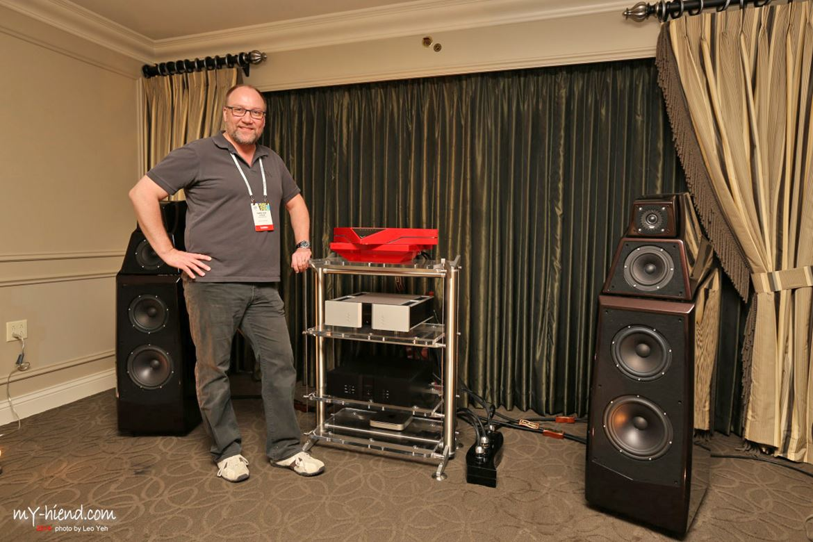 Ole Vitus and Wilson Audio Alexia with Light Harmonic's DaVinci Duel DAC, and Stillpoints ESS rack
