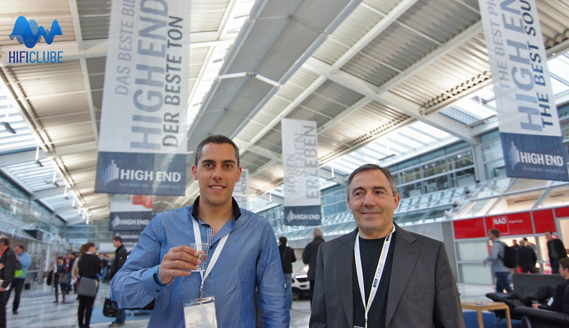 Delfim Yanez e Vítor Pereira, no Highend 2013, Munique