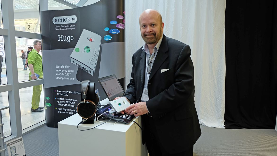 A smiling John Franks showing little Hugo, the most advanced portable HD DAC in the world. And the best too. Read my review and find out why. By the way all the videos were edited using Hugo as a fine tool courtesy of John Franks. Kudos to you John!