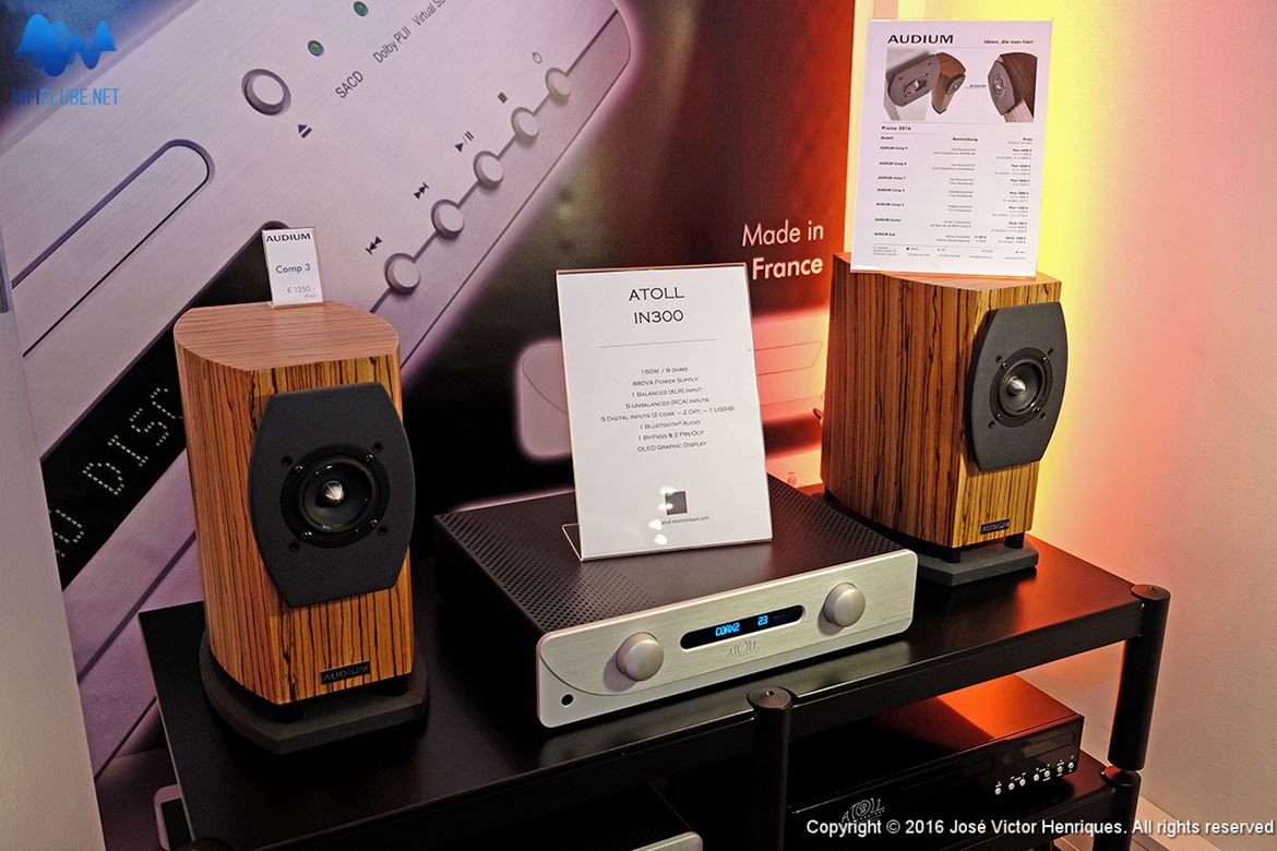 Atoll Integré 300 and Audium Comp 3.1 speakers