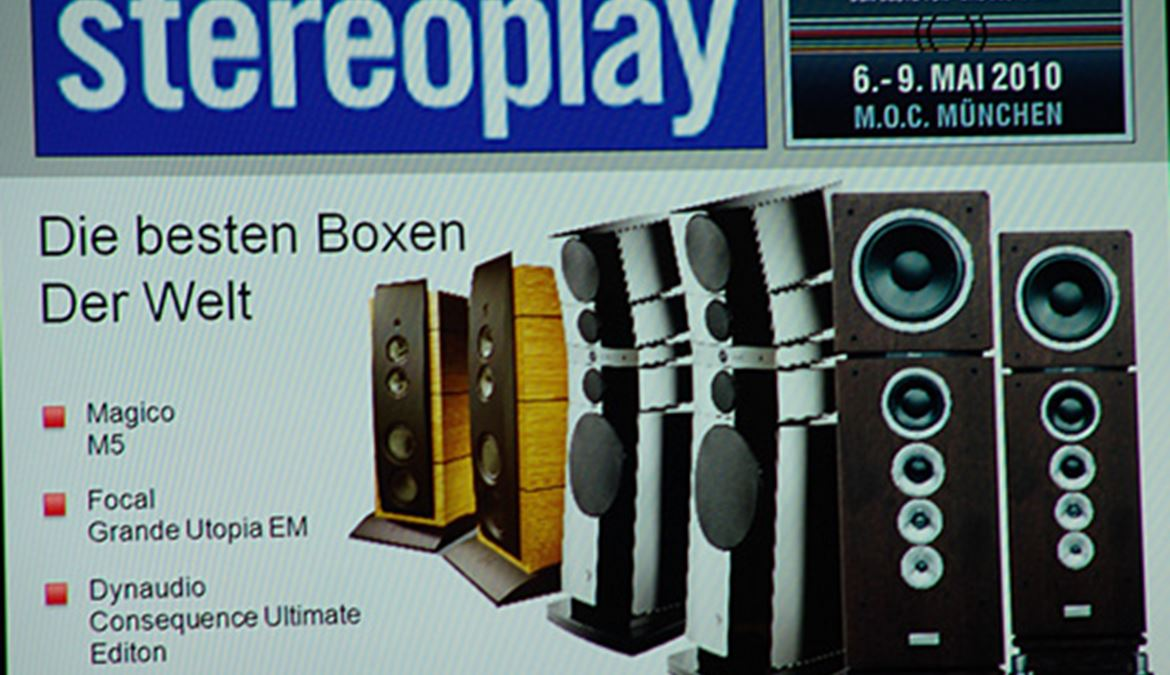 Highend 2010 - Munique - Parte 6 - Comparativo Stereoplay: Dynaudio Consequence Vs. Focal Grande Utopia Em Vs. Magico M5