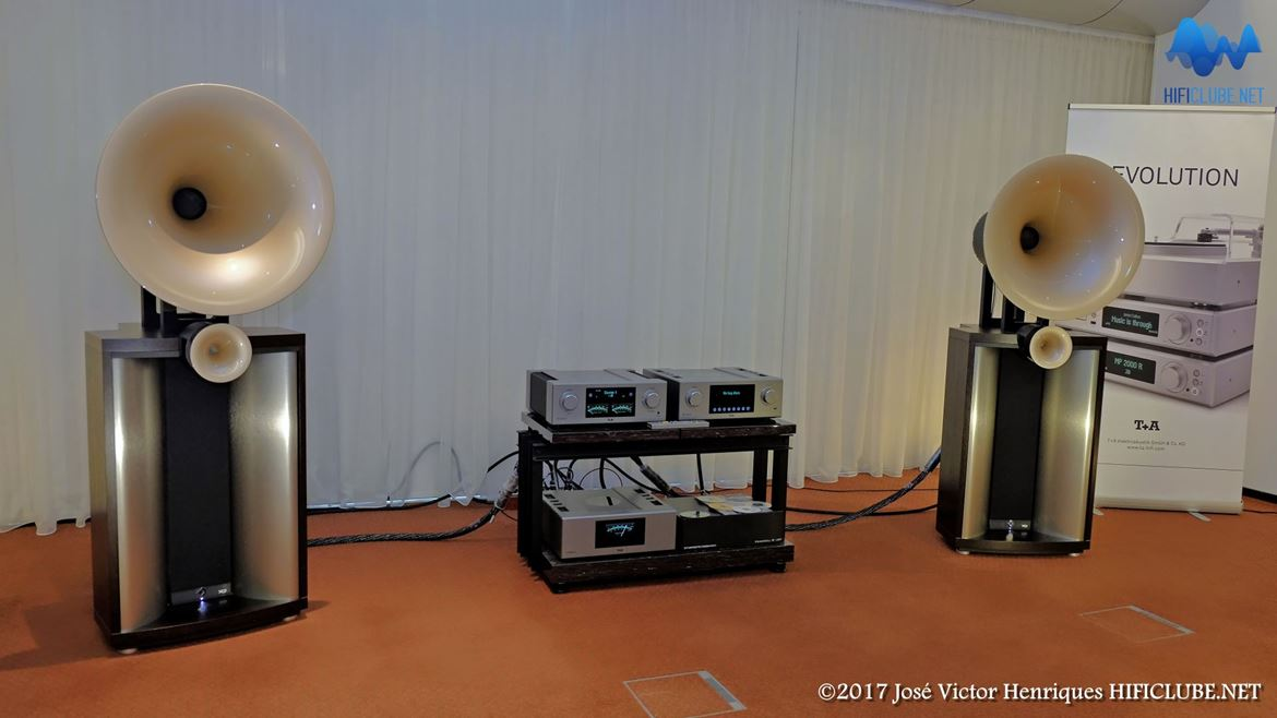 Avantgarde Duo Mezzo, Integrado T+A PA3100HV Power Supply, T+A PS3000HV Leitor SACD/Media Player, T+A MP3100HV, Cabos Synergistic Research Galileo